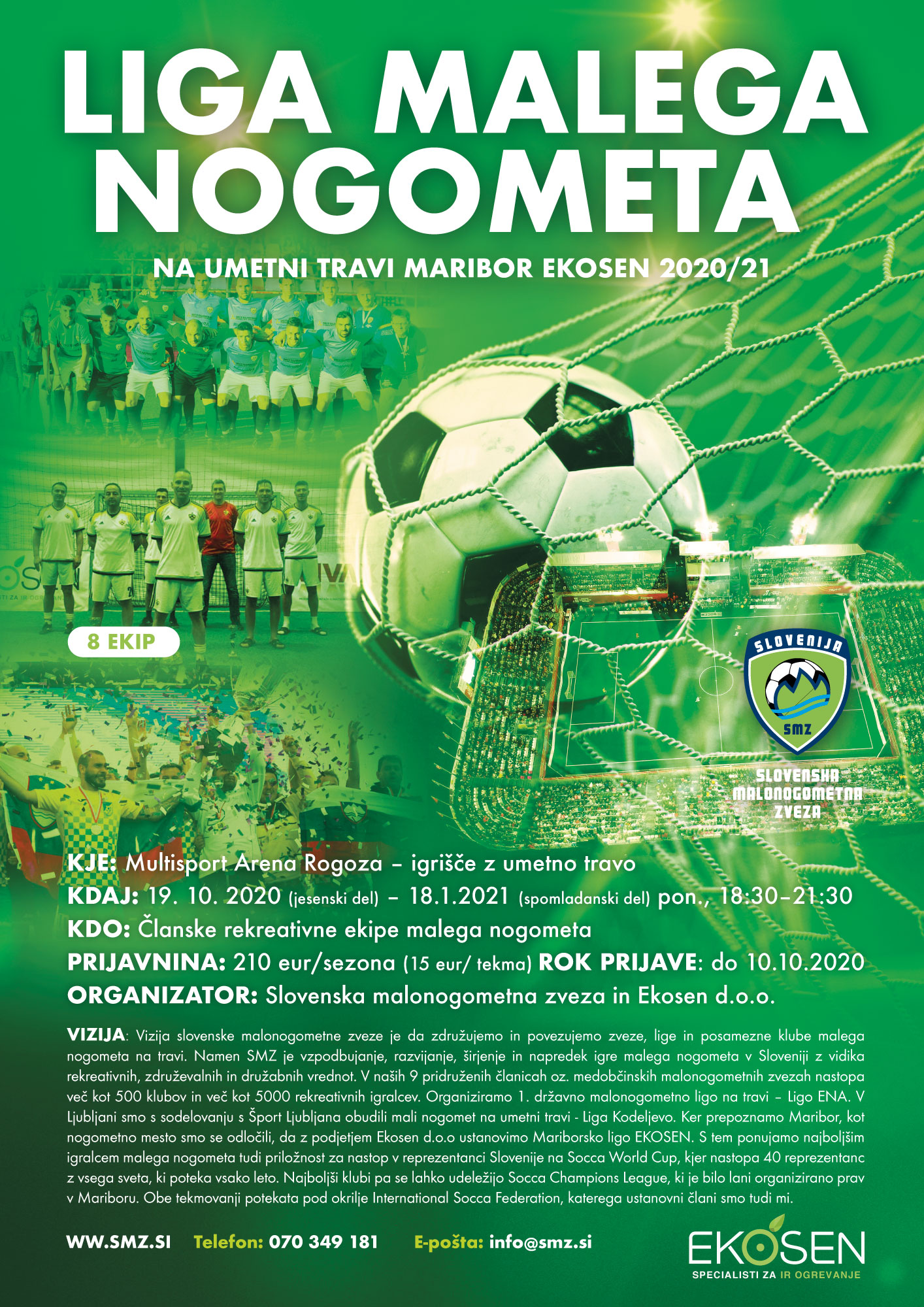 Mariborska malonogometna liga na umetni travi Ekosen-2020-2021-v organizaciji SMZ in Ekosen