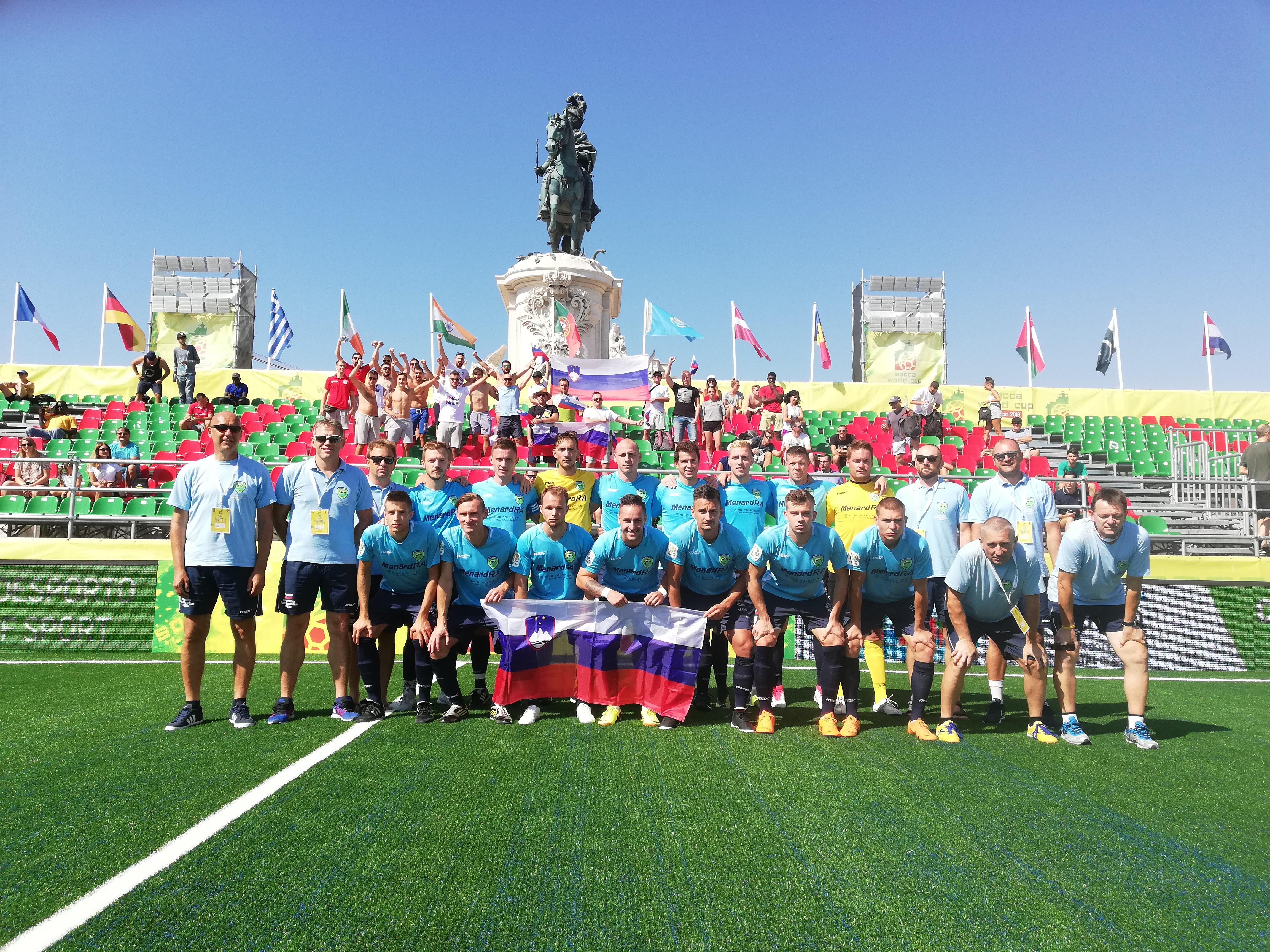 Slovenska malonogometna reprezentanca na svetovnem prvenstvu Socca World Cup 2018 na Portugalskem-SMZ