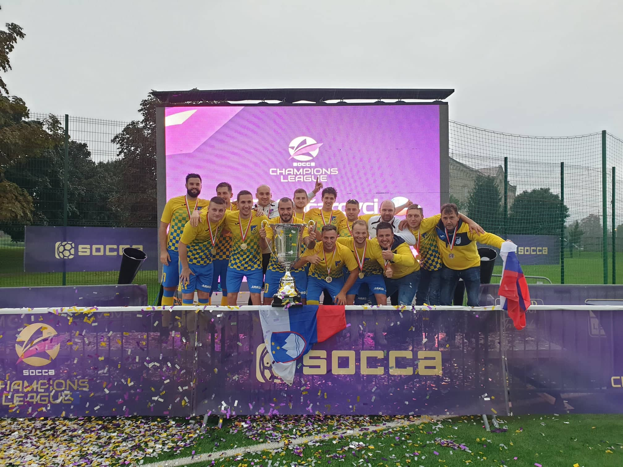 ŠD Arko Ključarovci so osvojili naslov Socca lige prvakov v malem nogometu-2019-SMZ